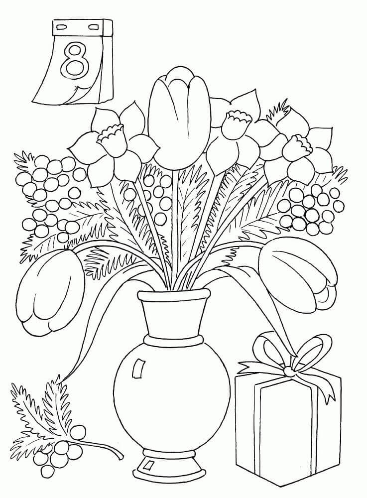 8th March International Womens Day Colouring Pages