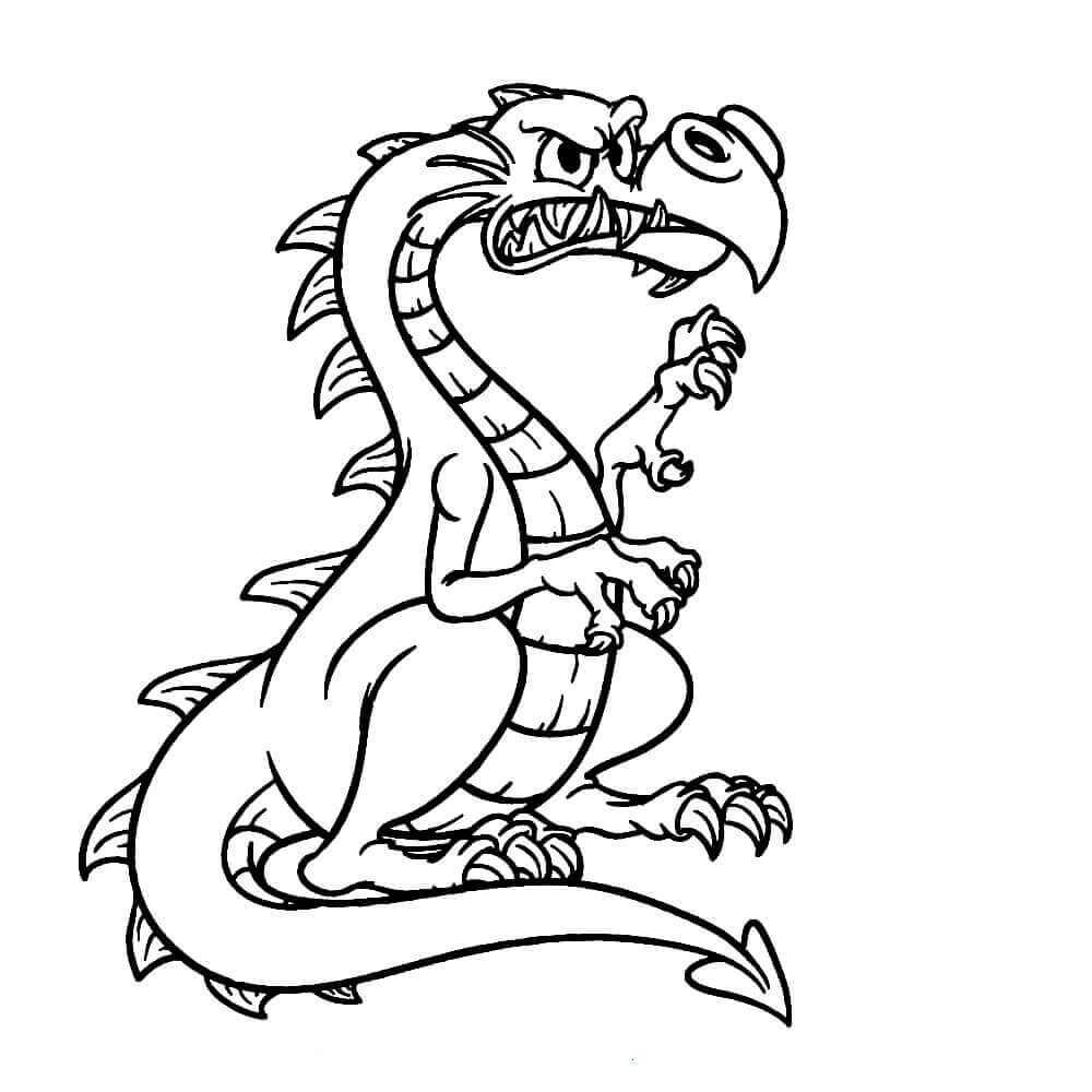 Angry Dragon Coloring Pages