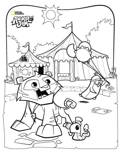 Animal Jam Coloring Pages For Preschoolers
