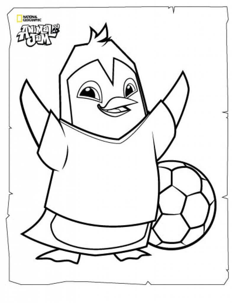 jam coloring page - free printable animal jam coloring pages