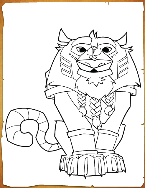 Animal Jam Coloring Pages Sir Gilbert