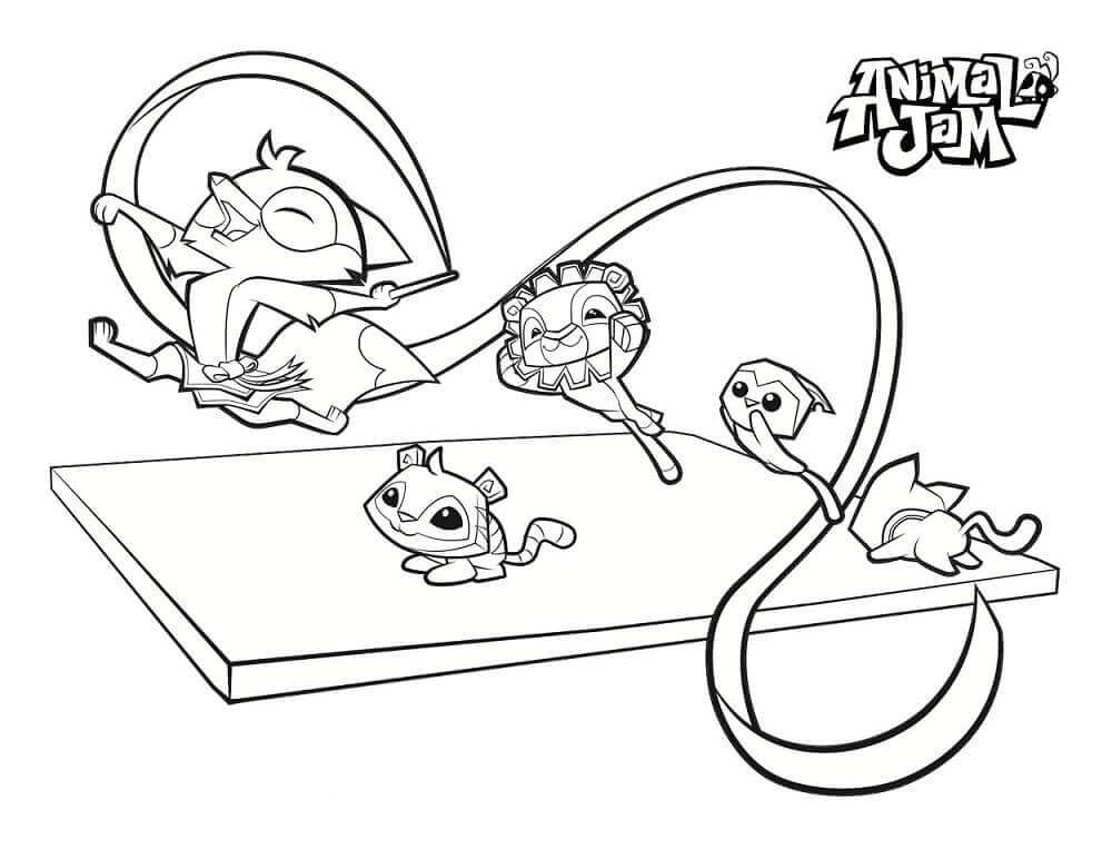 Animal Jam Coloring Pages To Print