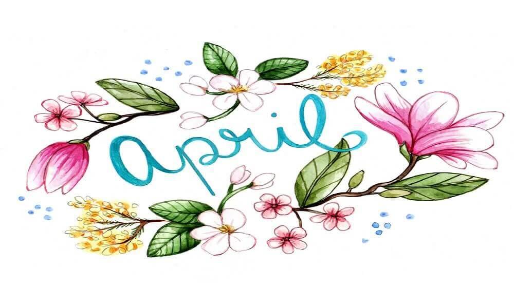 April Coloring Images