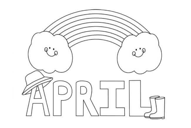 April Coloring Sheets For Toddlers