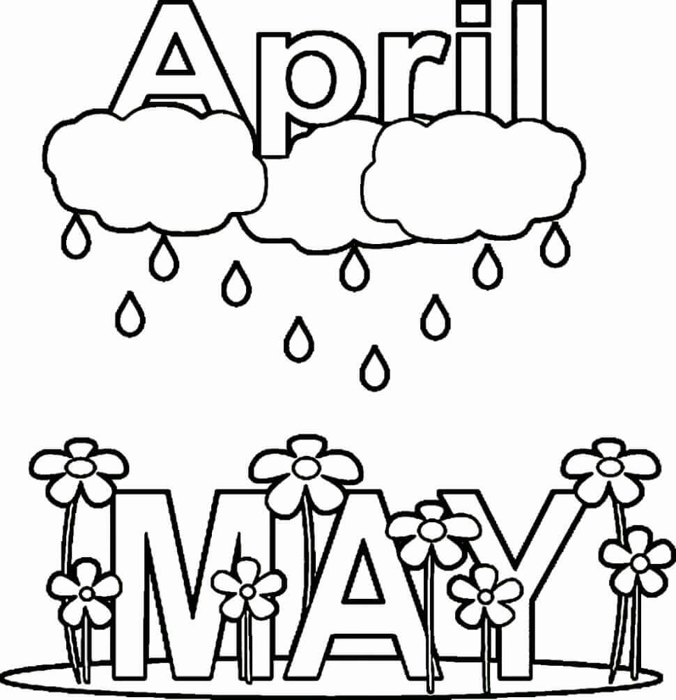 free april coloring pages - photo#3
