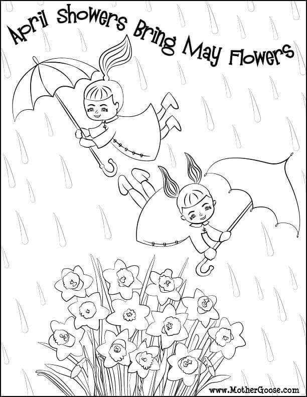 free april coloring pages - photo#13