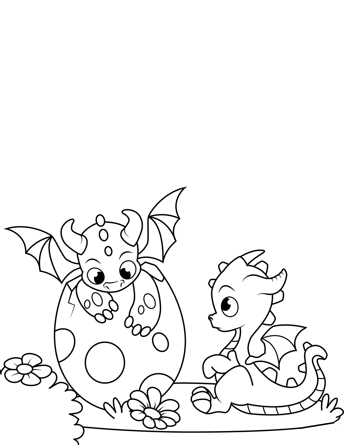 Baby Dragon Coloring Sheets