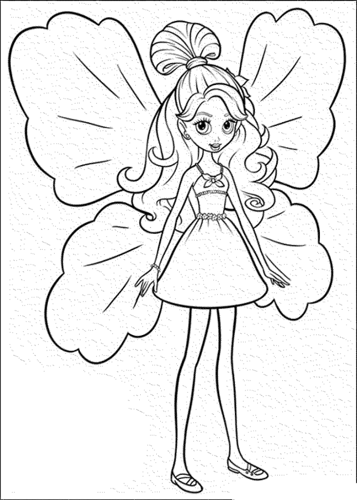 Butterfly Girl Coloring Page
