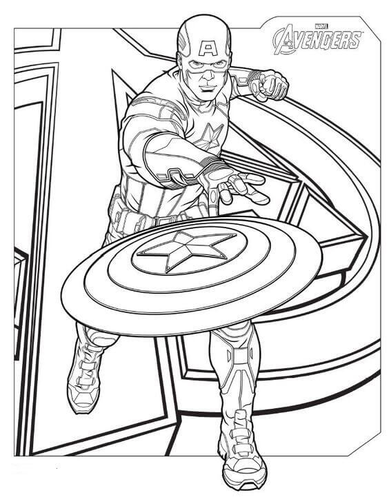 Captain America Avenger Coloring Pages
