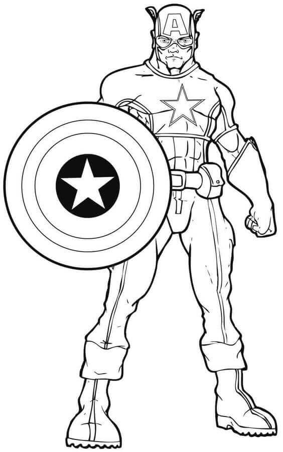 Captain America Defense Captain America Coloring Pages