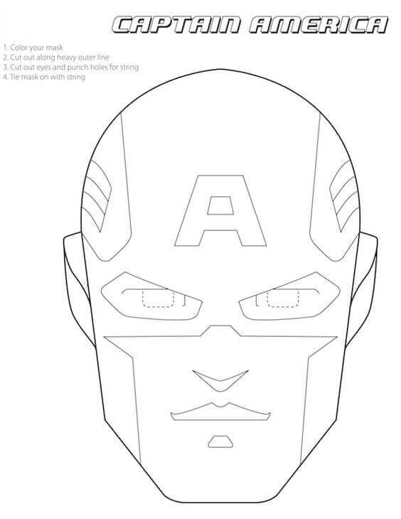 Captain America Mask Printable