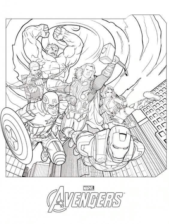 Captain America The Avengers Coloring Page