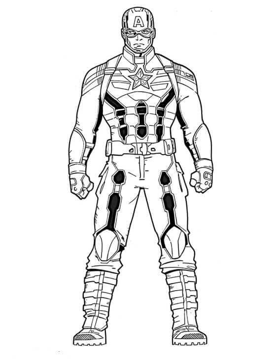 Bucky coloring pages ~ 30 Printable Captain America Coloring Pages