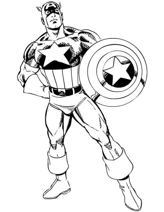 Captain Coloring Pictures Free