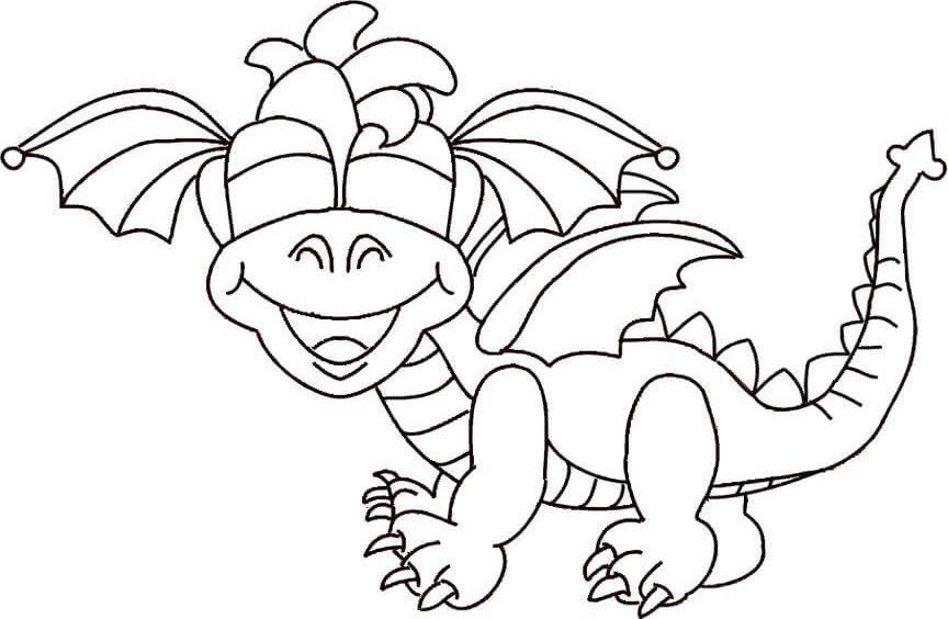 Cartoon Dragon Coloring Sheets