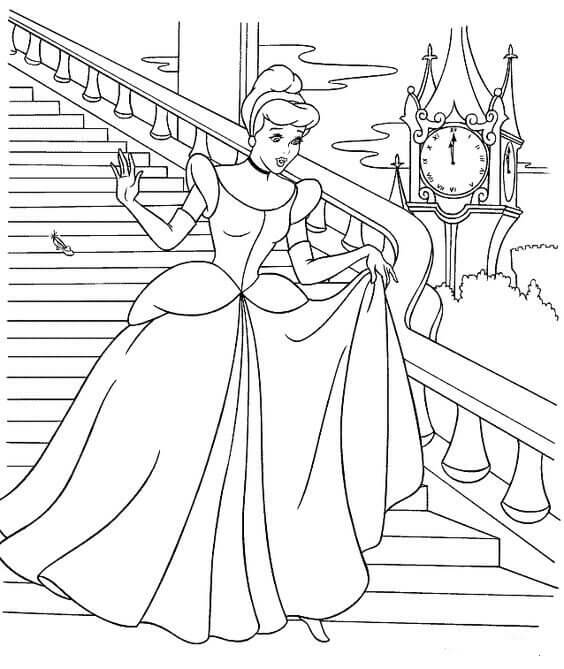 Cinderella Ball Party Coloring Pages