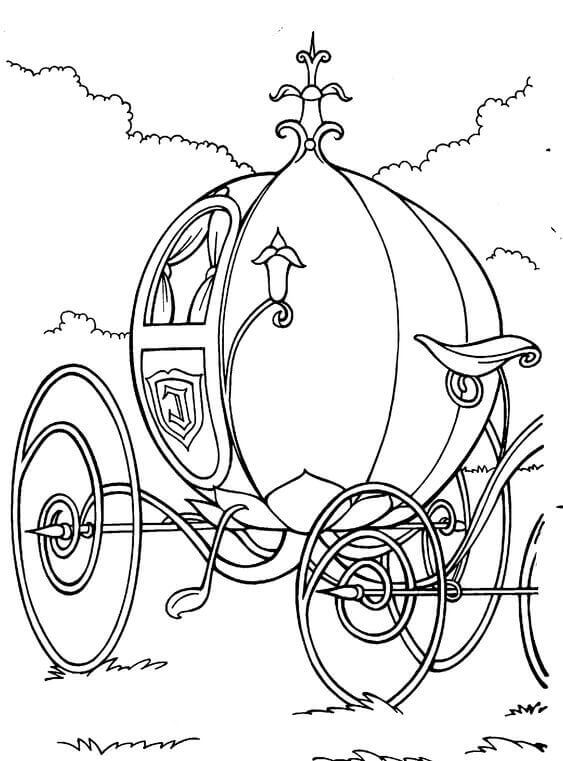Cinderella Carriage Coloring Page