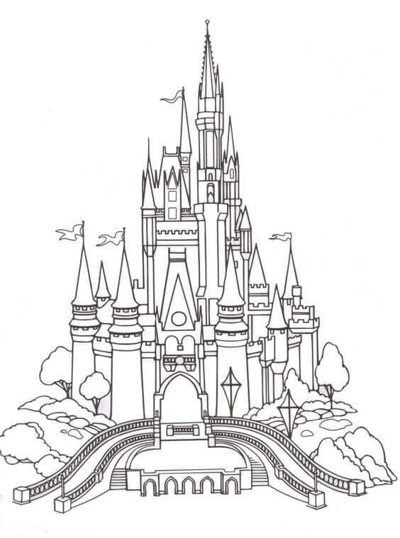 Cinderella Castle Coloring Page