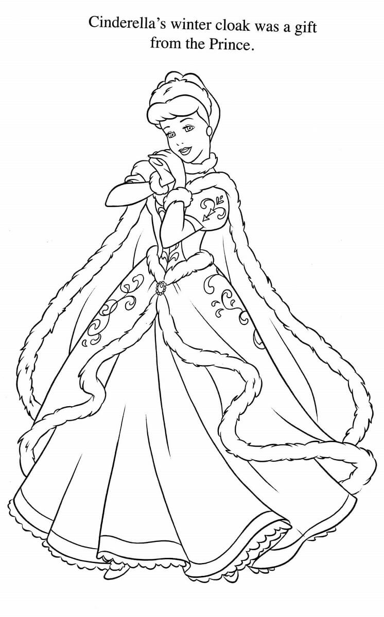 30 free printable cinderella coloring pages for Cinderella coloring pages online