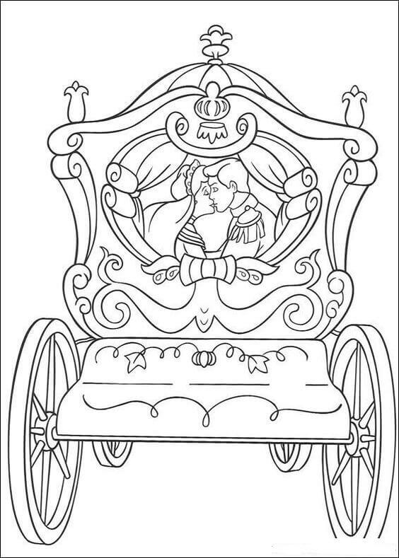 Cinderella Happily Ever After Coloring Page