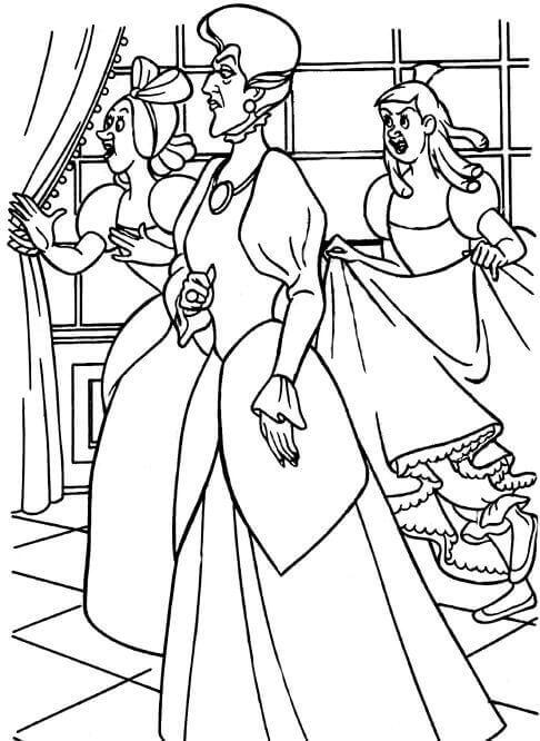 Cinderella Step Sister Coloring Page