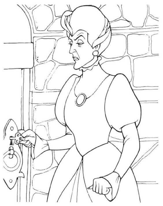 Cinderella Stepmother Lady Tremaine Coloring Page