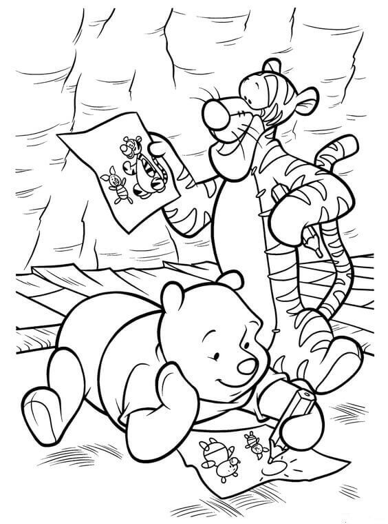 Classic Winnie The Pooh Coloring Pages