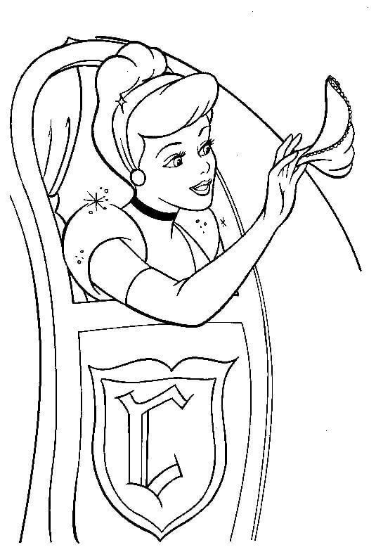 Coloring Pages Of Cinderella