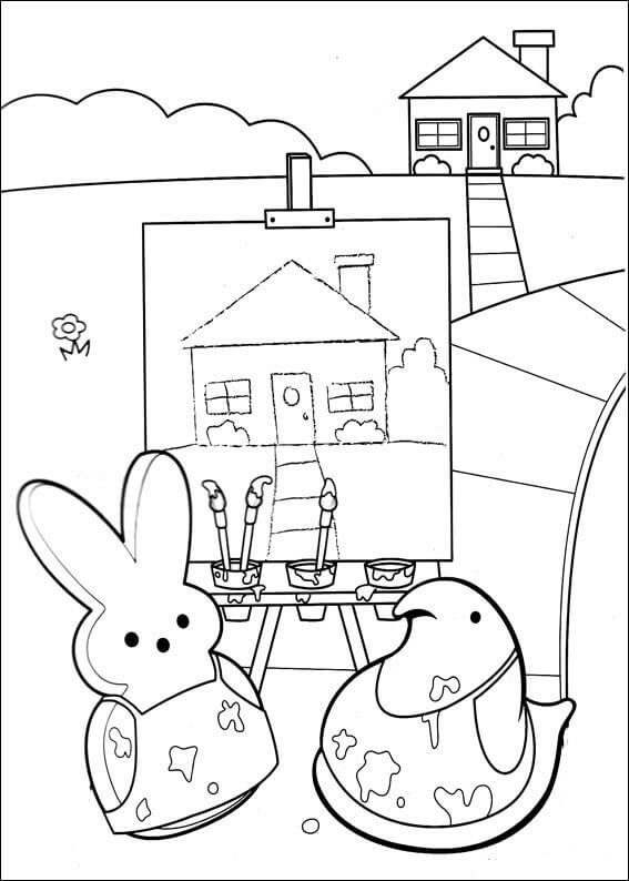 easter peeps coloring pages - photo#16