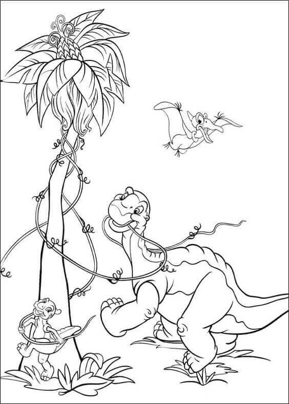 Cute Dinosaur Coloring Sheets For Kids