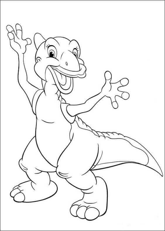 Cute Dinosaur Coloring Sheets