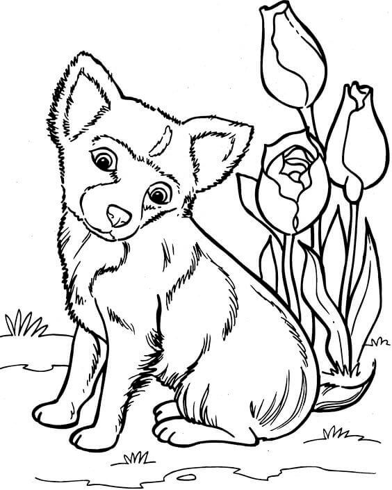 Cute Doggy Coloring Sheet