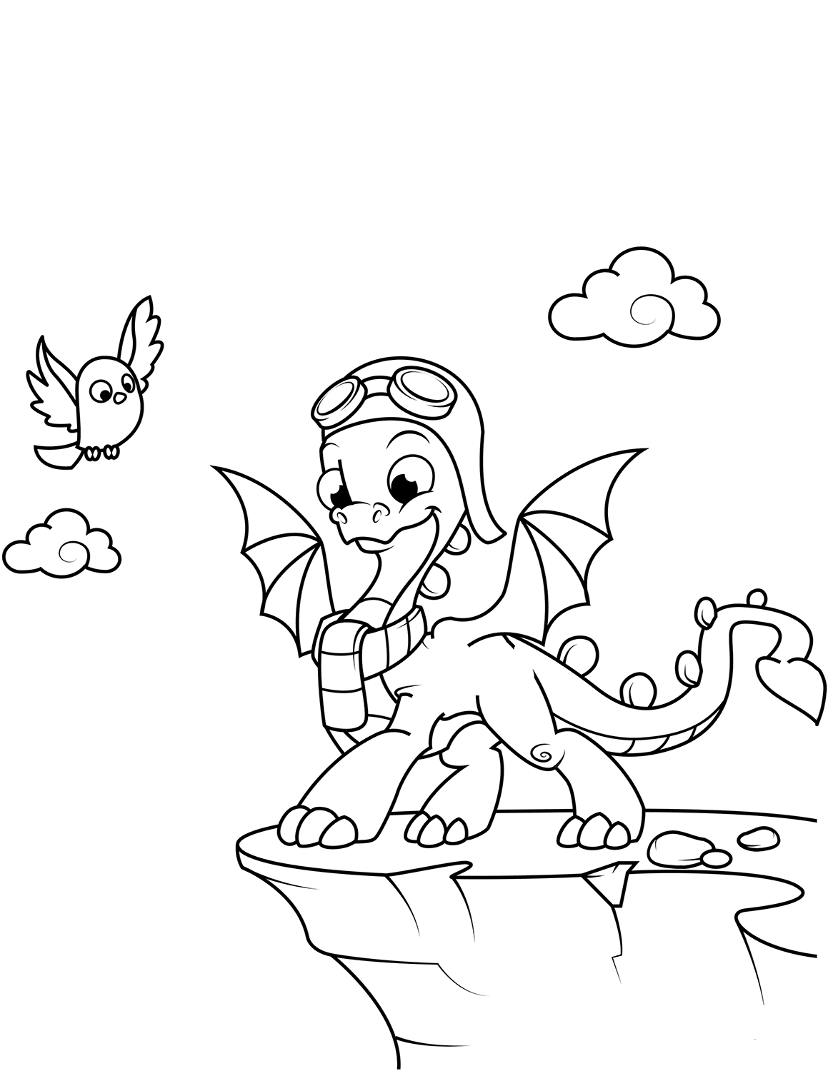 Cute Dragon Coloring Images