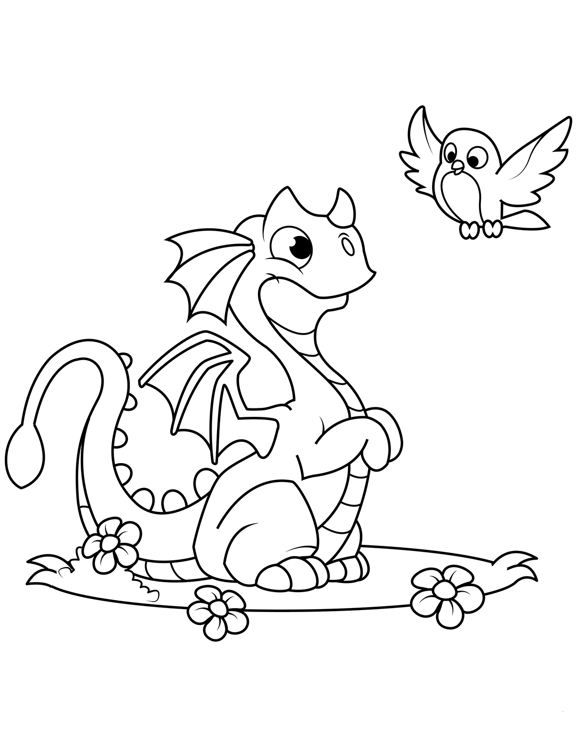 Printable coloring pages and dragons ~ 35 Free Printable Dragon Coloring Pages