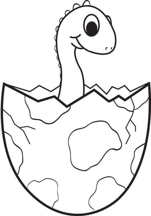 Dinosaur Baby Coloring Pages