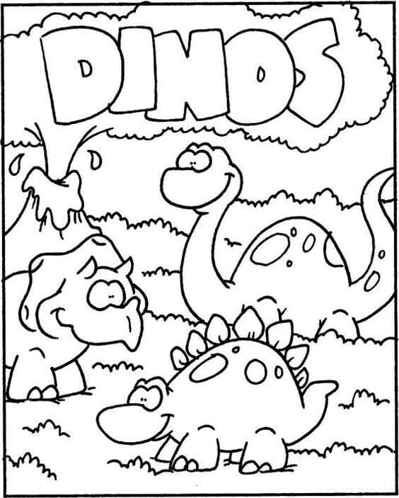 Dinosaur Coloring Pages For Children