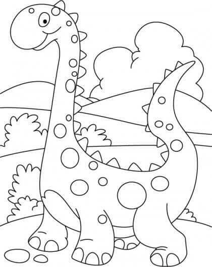 Dinosaur Coloring Pages For Preschoolers