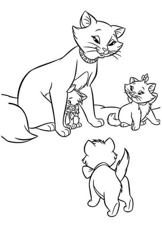 Disney Cats Coloring Pages