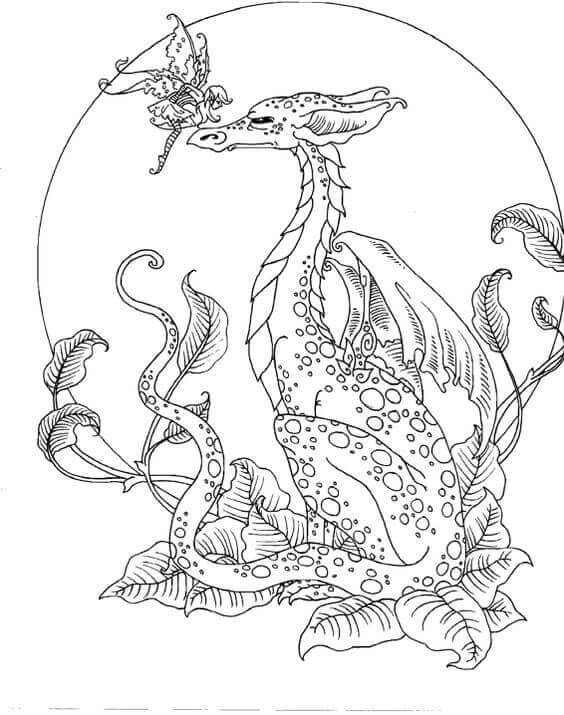 Dragon Cartoon Coloring Pages