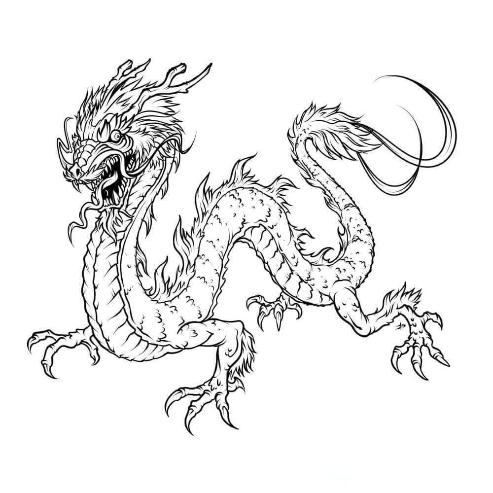 Dragon Coloring Sheets Free
