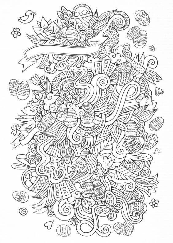 Easter Coloring Sheets For Adults