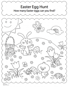 Easter Egg Hunt Coloring Pages Free