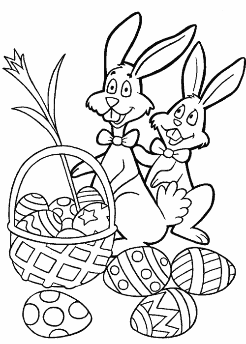 Easter Egg Hunting Coloring Pages