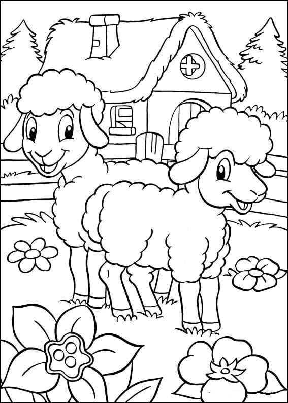 Easter Lamb Coloring Pages