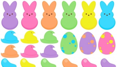 Easter Peeps Coloring Images