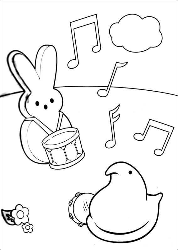 Easter Peeps Coloring Pages