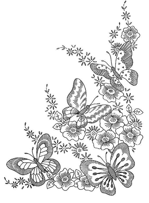 Elaborate Butterfly Coloring Page