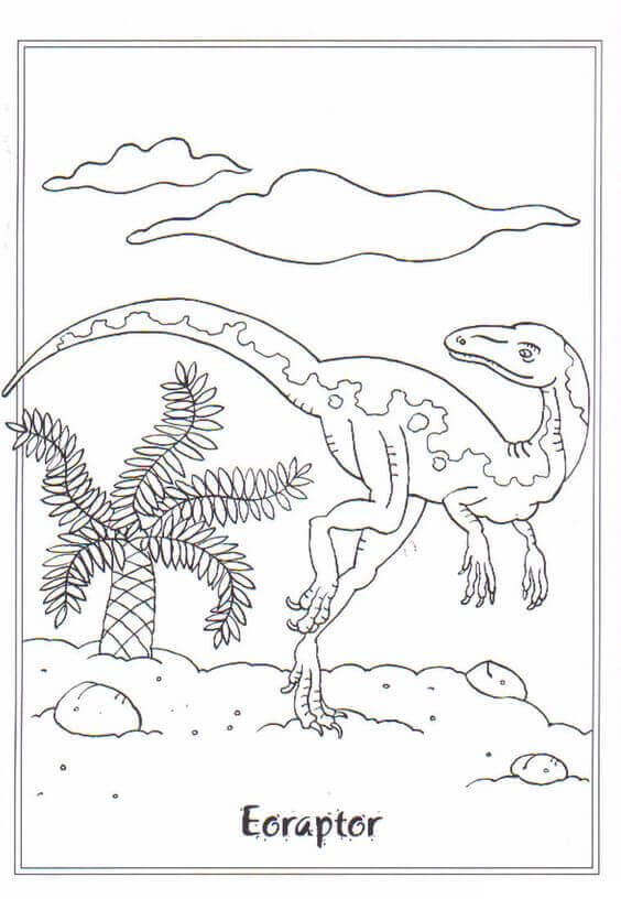 Eoraptor Dinosaur Coloring Pages