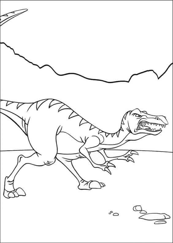 Ferocious Dinosaur Coloring Pages