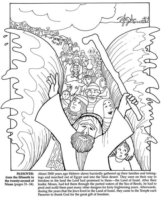 Free Printable Passover Coloring Pages (Pesach Coloring Sheets)